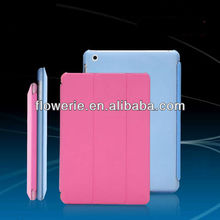 FL2465 2013 Guangzhou flip wallet leather folding smart cover case with stand for ipad mini