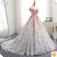 Flower Ball Gown Wedding Dress 2017 Bridal Dress Real Photo Puffy Bridal Dress 2017 Wedding Gown