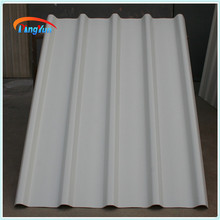 corrugated white plastic roof sheet for warehouse roofing