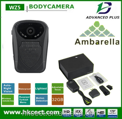 IP 56 police body worn camera mobile phone through WIFI to connect police camera security camera system
