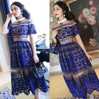 New arrival 2015 women vintage dresses fashion sexy see through floor length maxi dress for ladies