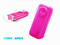 power bank for tablet pc W807 Fluorescence Fish Mouth flashlights external battery pack 5600mah universal usb charger