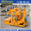 save energy movable concrete block making machine