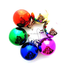 colorful lighting Christmas tree ornament decorations dull polish Christmas tree plastic ball stock