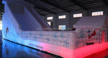 Innovative Christmas inflatable obstacle course giant slide illuminated with LEDs