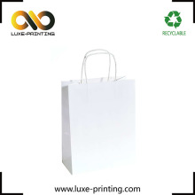 Cheap craft paper bag plain white free shipping small bag