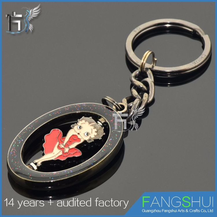 Customized spiral best friend keychain turbo keyring hot sale