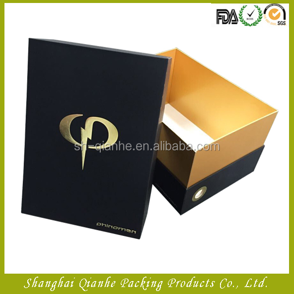 Fashion design packaging paper box with for men's shoes