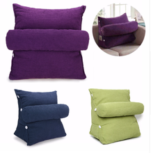 Corn Cashmere Lumbar Back Support Triangular Pillow for Bed
