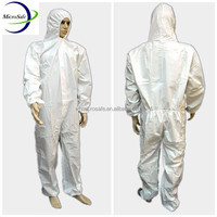 White Disposable Protective Overall