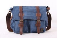 Men Canvas Crossbody Shoulder Vintage Military Messenger Bag