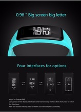 "R1 0.96"" OLED Display Smart Watch Dynamic and static heart blood pressure Monitor Bluetooth Fitness Band"