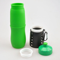 New arrival BPA free silicone bottle, 2015 water bottle mug with lid