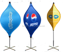Hot item 2016 outdoor unique attractive pop up banner advertising LED lantern flags with polyester material