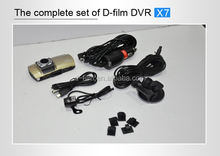 dual camera car dvr reaview mirror with user manual