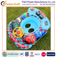 Steering wheel decoration plastic PVC inflatable swimming ring with baby seat