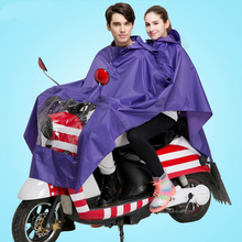 Hot Sell Two Adult People Thickening Raincoat Waterproof Men Electrombile and Motorcycle Raincoat