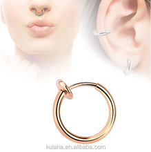 10mm Body Jewelry Septum Ring Metal Filled Handcrafted 20 Gauge Nose Ring