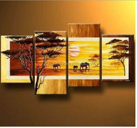 Huge Handmade Modern Oil Painting on Canvas Wall Art, I love my family, Home Decoration SY279
