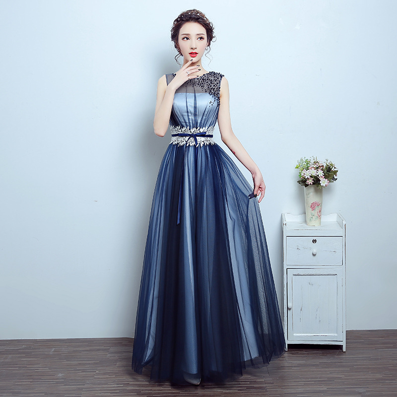 Wholesale bridesmaids dresses navy blue - Online Buy Best ...