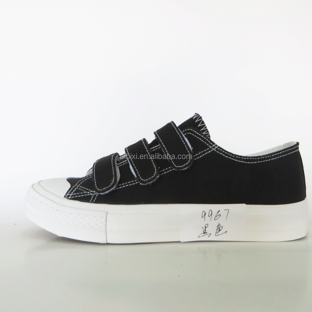 custom made Black Canvas Rubber Tennis Shoes