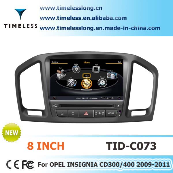 S100 Car DVD Sat Navi for Opel Insignia CD300/400 2009-2011 year with A8 chipest, bluetooth, sd, ipod, 3g, wifi