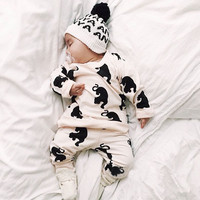 Boutique Clothing Set Baby Girl Animal Wolf Clothing Outfits Cute Fashion Children Clothing 2016