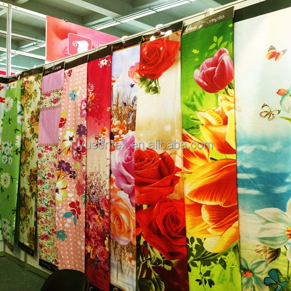 2017 newest 100% polyester high quality disperse print 3D bedding/home textile /matress fabric