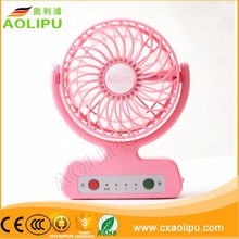Summer popular electric handheld fold rechargeable fan , mini usb fan