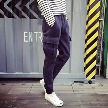 Mens High Quality Cotton Cargo Pocket Sweat Pants Custom Blank Plain Track Pants