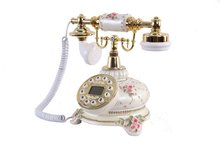 Classic Porcelain Phone/ Telephone with Caller ID