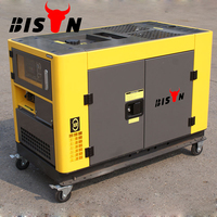 BISON(CHINA) Reliable Power Output 12.5 kva Diesel Generator, zambia silent diesel generator set, 12kva silent diesel generator