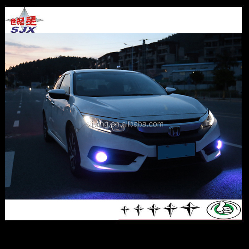 Car accessories LED angle eyes for Civic 2016 LED Daytime Running Light fog light lamps