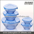 5pcs glass bowl set with lids, glass salad bowl set, nut cracker & bowl set GBB1401B
