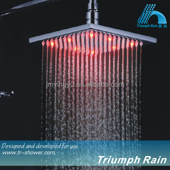 8inch Brass shower led/bathroom accessories