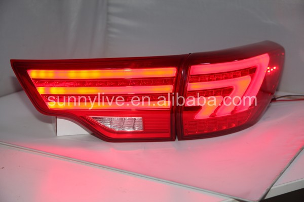 2014-15 year For TOYOTA Highlander Kluger LED Tail Light Rear Lamp Red Color BW V2
