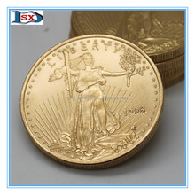 gold folk art style replica american eagle fake gold coin for stock sale