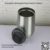 Double Wall Insulated Stainless Steel Stemless Wine Glass Travel Mug with Spill Prevention Slide Lock Suction Lid