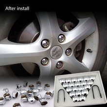 China wholesale price chrome truck wheel nut covers for car