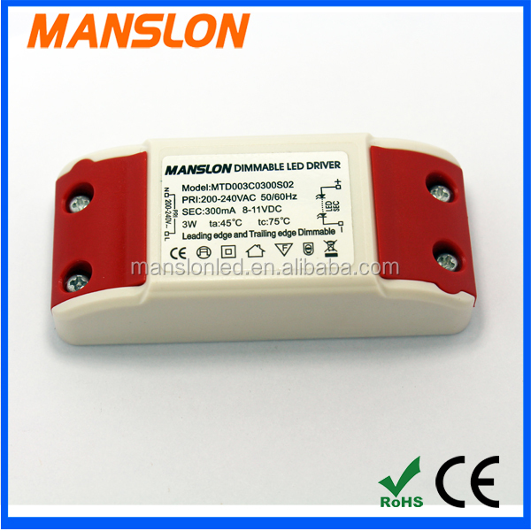 Supplier 3w led light driver 300ma switching power supply with CE