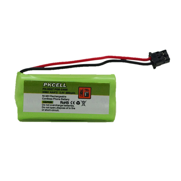 PKCELL pk-0027 nimh 2.4v battery pack ni-mh 600mah aaa*2 2.4v c-450 ni-mh cordless phone battery pack