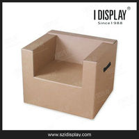 custom folding corrugated cardboard table and chair for kids and adult
