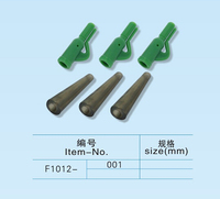 Best quality carp fishing terminal tackle lead clips with rubber tail