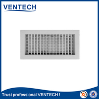 Asian double deflection air grille for ventilation use