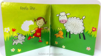 FDT customized good quality creative kids animal soft touch and feel board book