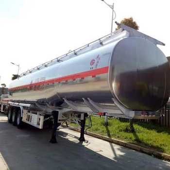 China manufacture 50 m3 chemical liquid transport semi-trailer truck