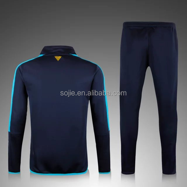Training football tracksuits, whloesale top quality training club soccer tracksuit for men, breathable men's soccer