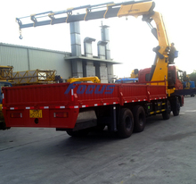 SQ25ZK6Q Hot 25t Dump Truck with Crane for Sale
