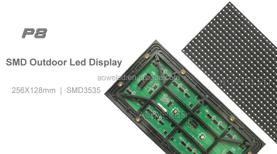 P8 P10 SMD Outdoor Front Open Front Service LED Display for outdoor advertising