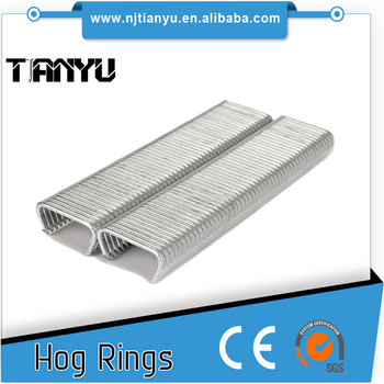 15 GA 3/4 inch HR22 D-type Hog Ring D Ring